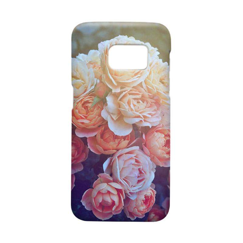 Indocustomcase Flower Julia Cover Casing for Samsung Galaxy S7 Edge