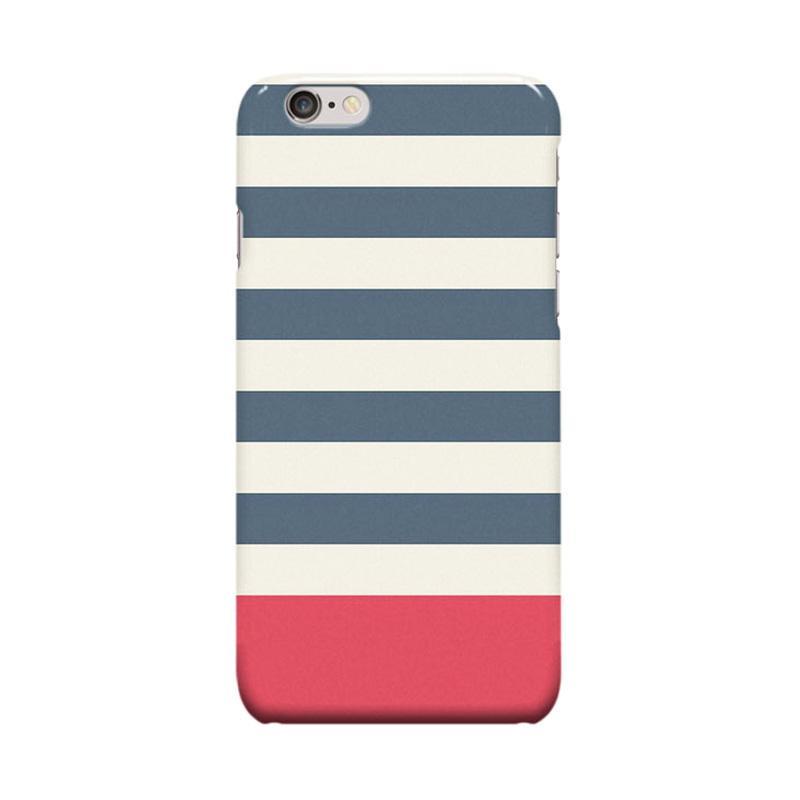Indocustomcase Stripes Cover Casing for iPhone 6 Plus or 6S Plus - Blue