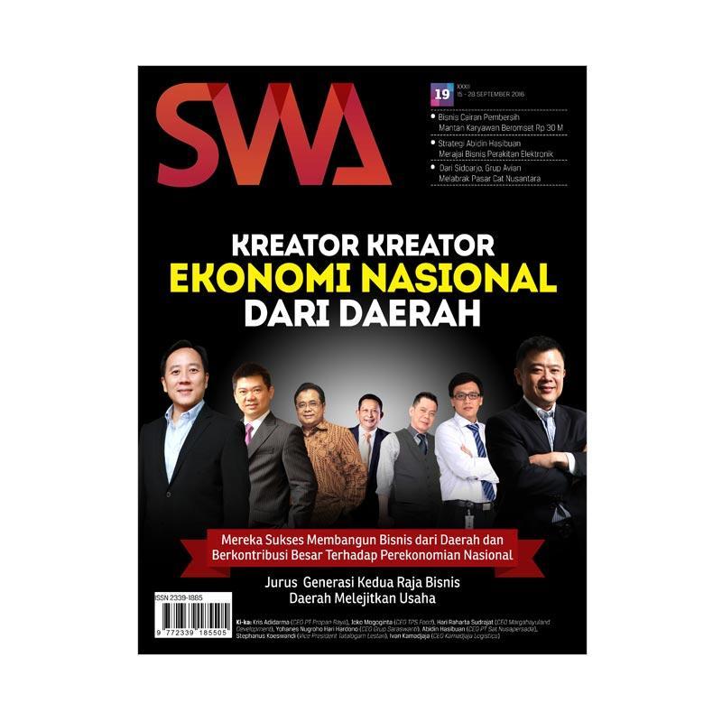 SWA edisi 19-2016 15 September-28 September 2016 Kreator-Kreator Ekonomi Nasional Dari Daerah Majalah