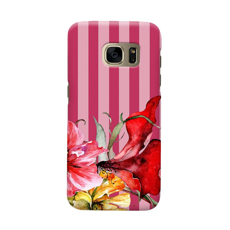 Indocustomcase Botanical FLower Cover Casing for Samsung Galaxy S6