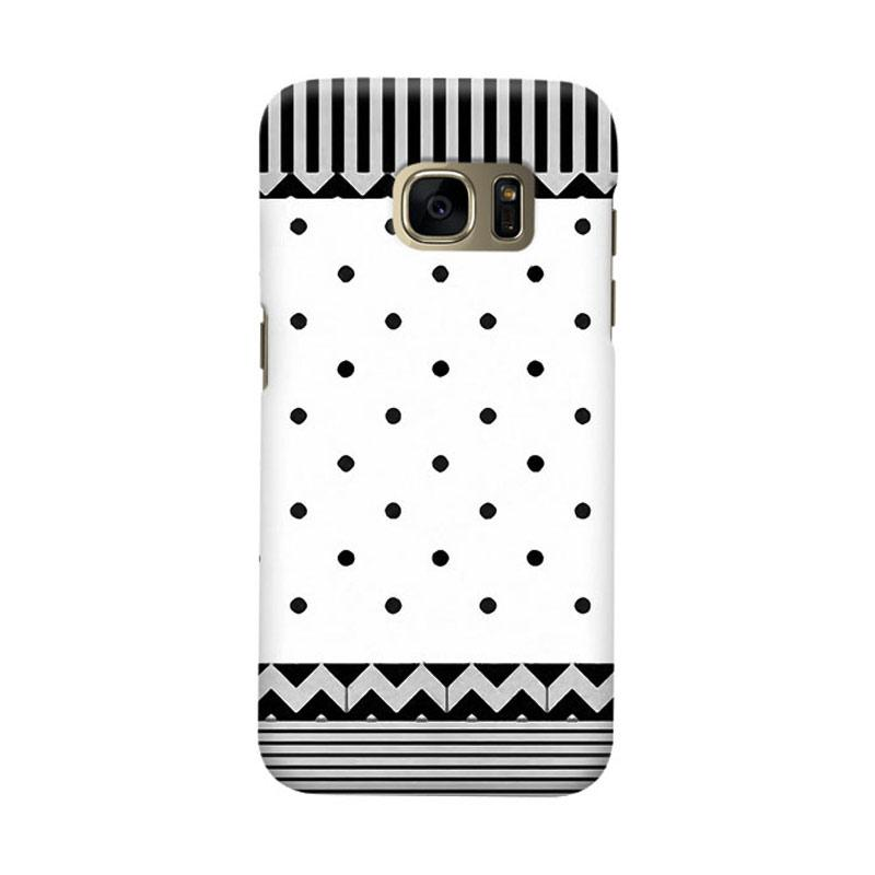 Indocustomcase Black Polka Tribal Cover Casing for Samsung Galaxy S6