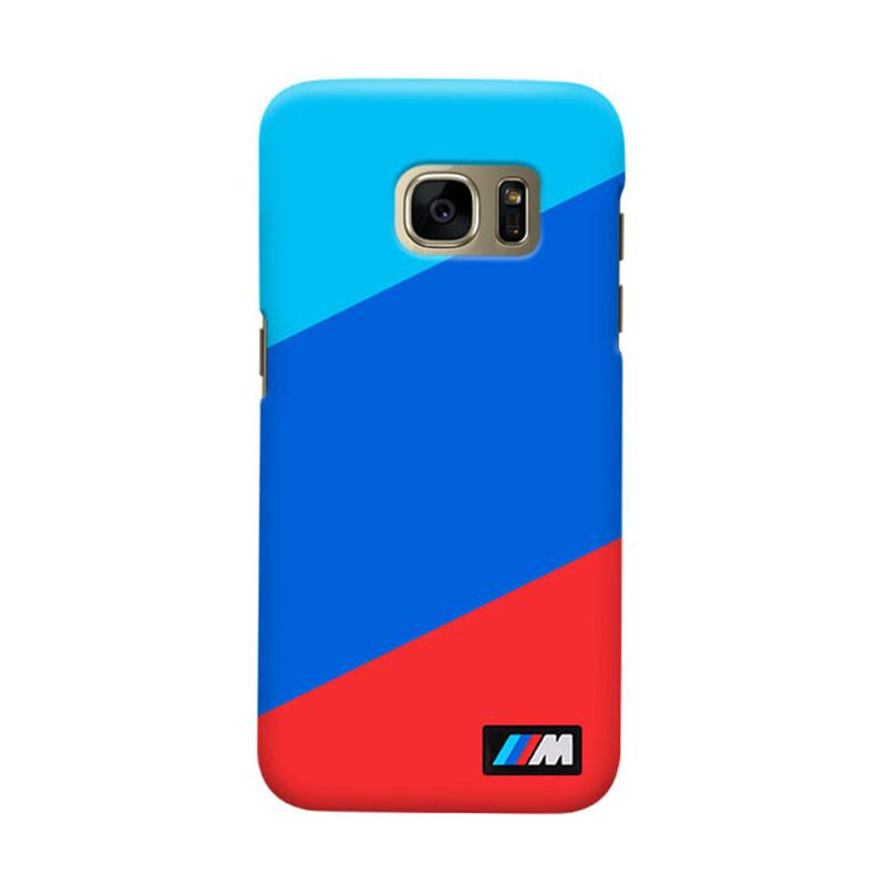 Indocustomcase BMW Stripes Cover Casing for Samsung Galaxy S6 Edge
