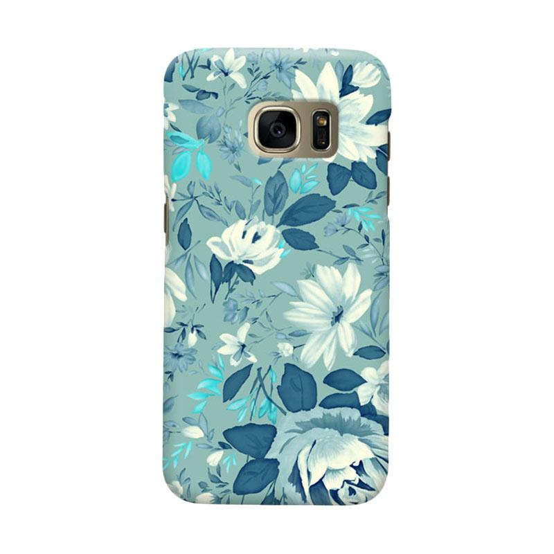 Indocustomcase Flower Julia 2 Cover Casing for Samsung Galaxy S7 Edge