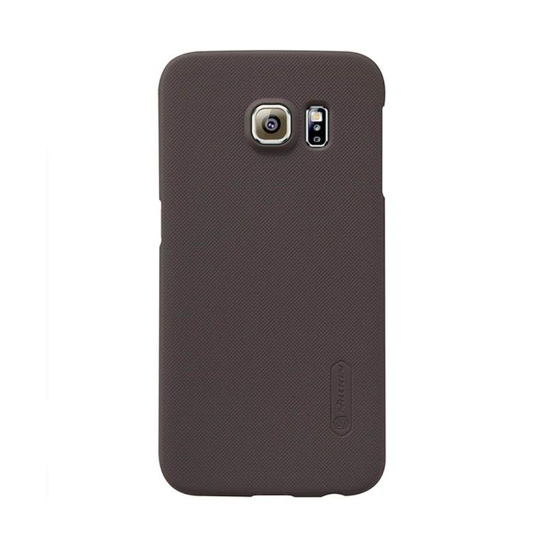 Nillkin Super Shield Original Hardcase Casing for Samsung Galaxy S6 Edge - Brown [1 mm]