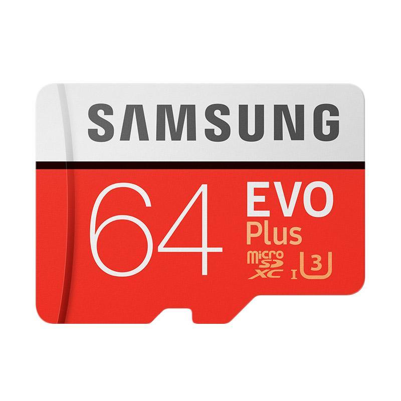 harga Samsung EVO Plus microSDXC UHS-I Class 10 Memory Card with Adapter - Merah [64GB/ 100Mbps] Blibli.com