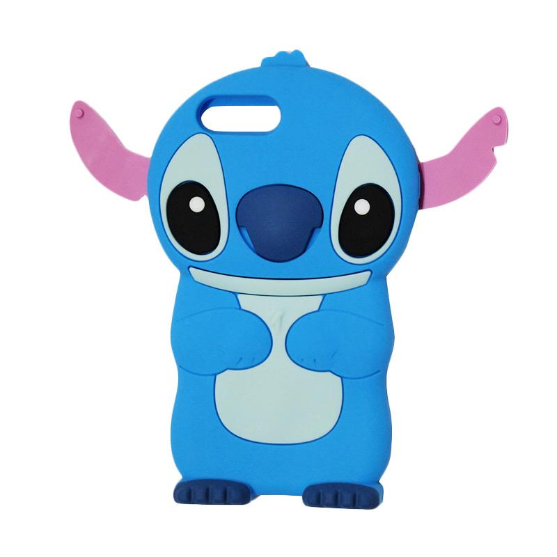 VR Karakter 3D Lilo Stitch Edition Silicone Softcase Casing for Apple iPhone 6 Plus/iPhone 6Plus/Iphone6 Plus/Iphone 6+ (Ukuran 5.5 Inch) - Blue