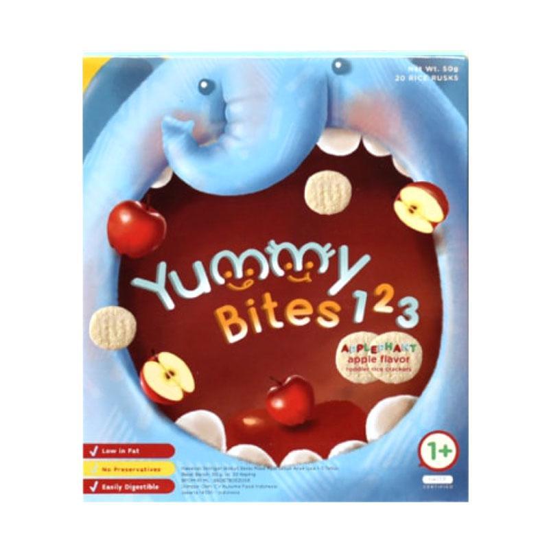 Yummy Bites 123 Applephant Rice Cracker for Toddler [Apple Flavor/12 Bulan keatas]