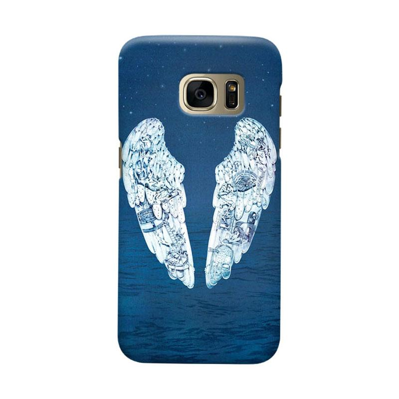 Indocustomcase Blue Cold Play Cover Casing for Samsung Galaxy S6 Edge