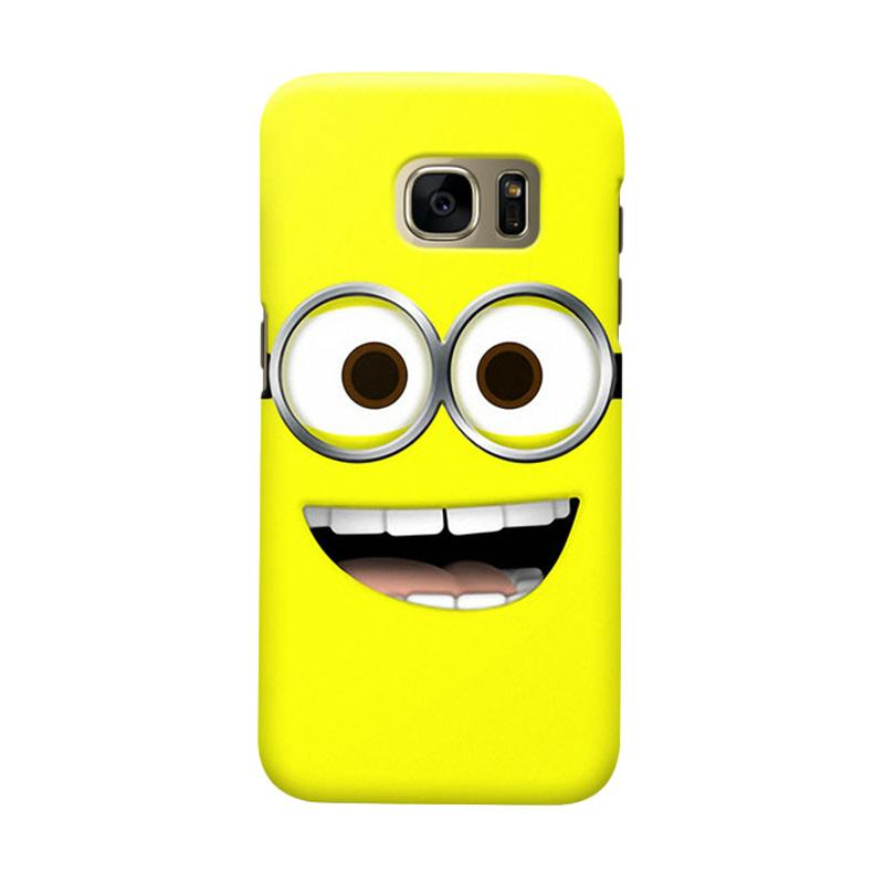 Indocustomcase Minion Lough Casing for Samsung Galaxy S7 Edge