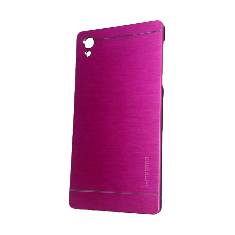 Motomo Metal Hardcase Backcase Casing for Sony Xperia Z5 Plus or Z5 Premium - Pink