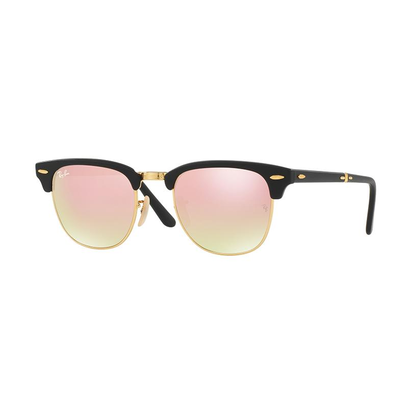 Ray-Ban RB2176-901S7O Clubmaster Folding Sunglass - Matte Black Copper Flash Gradient [Size 51]