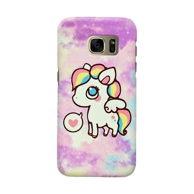 Indocustomcase Little Pony Cover Casing for Samsung Galaxy S7 Edge