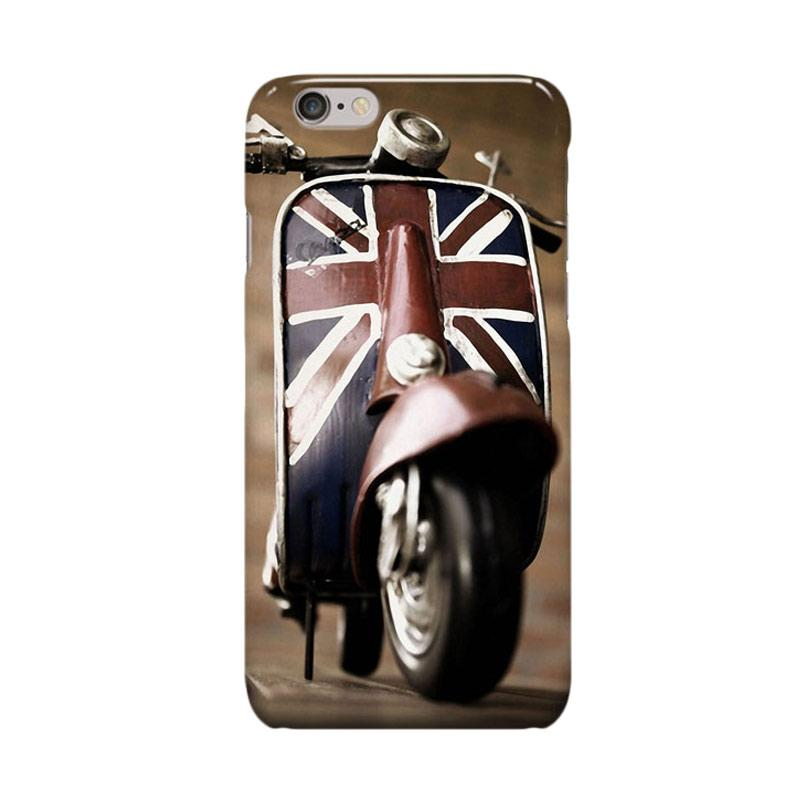 Indocustomcase Vespa UK Cover Casing for Apple iPhone 6 Plus or 6S Plus