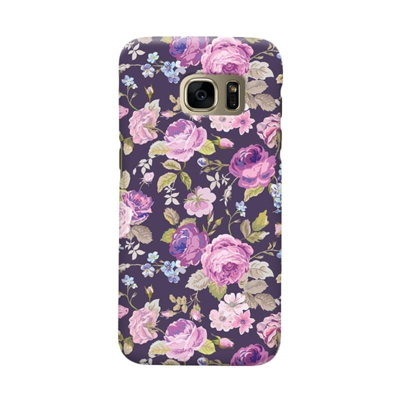 Indocustomcase Floral Rose Pink Cover Casing for Samsung Galaxy S7