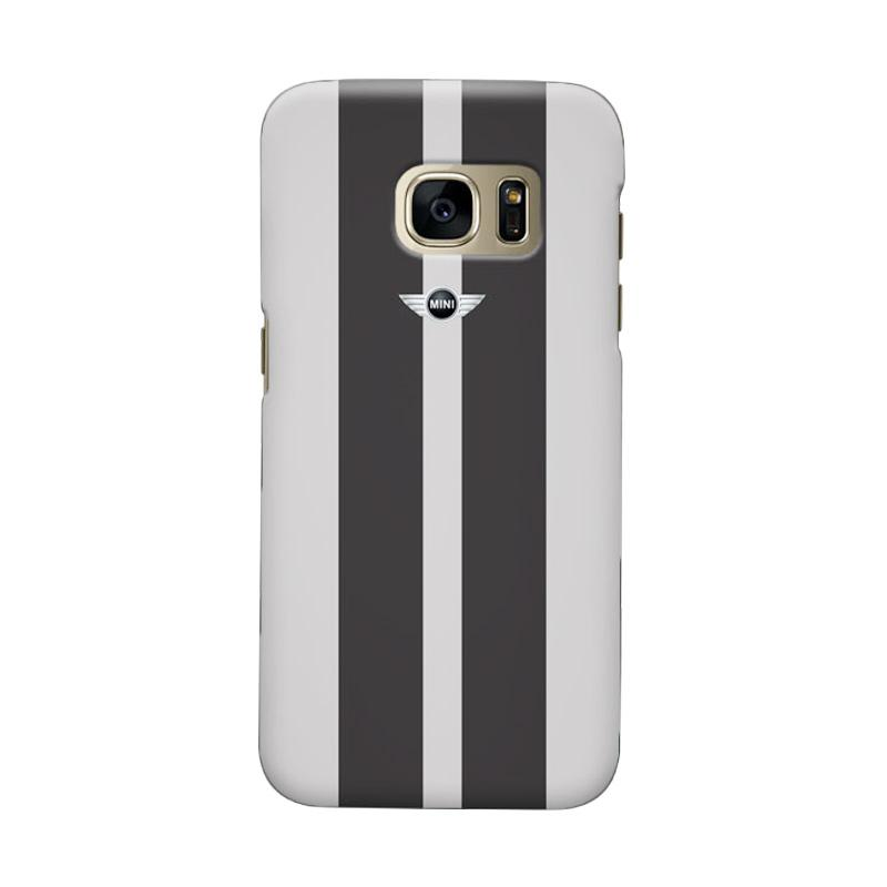 Indocustomcase Grey Mini Cooper Cover Casing for Samsung Galaxy S6