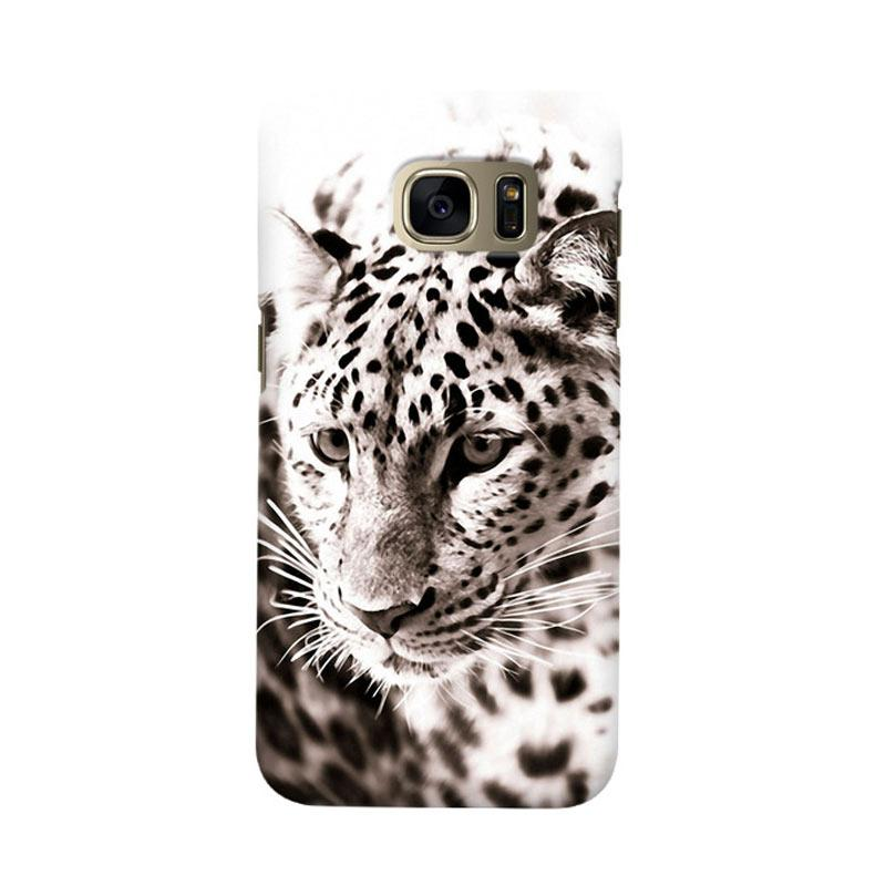 Indocustomcase Snow Leopard Cover Casing for Samsung Galaxy S6 Edge