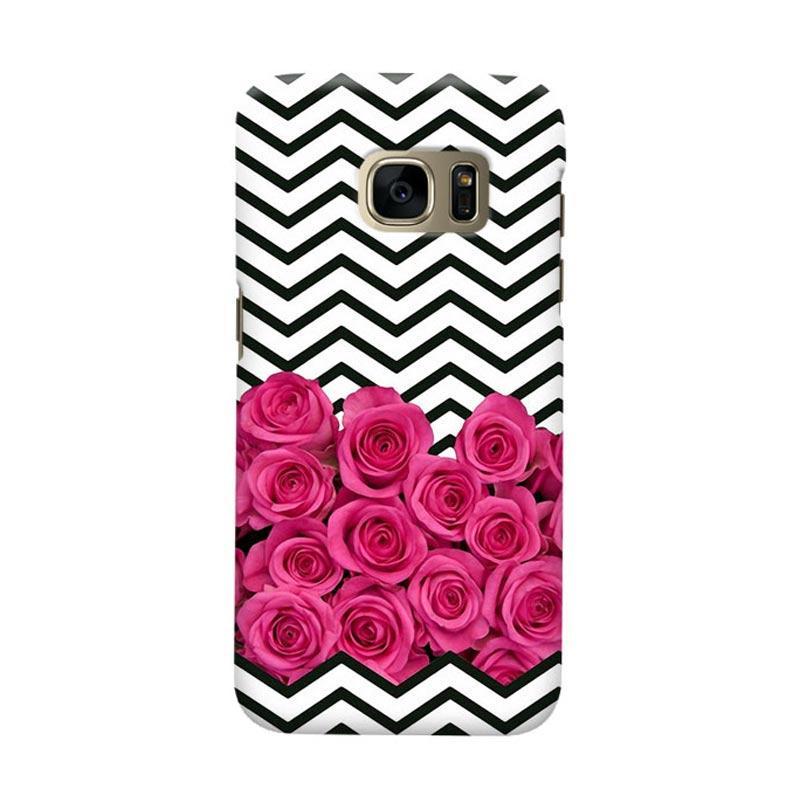 Indocustomcase Chevron Rose Cover Casing for Samsung Galaxy S7 Edge