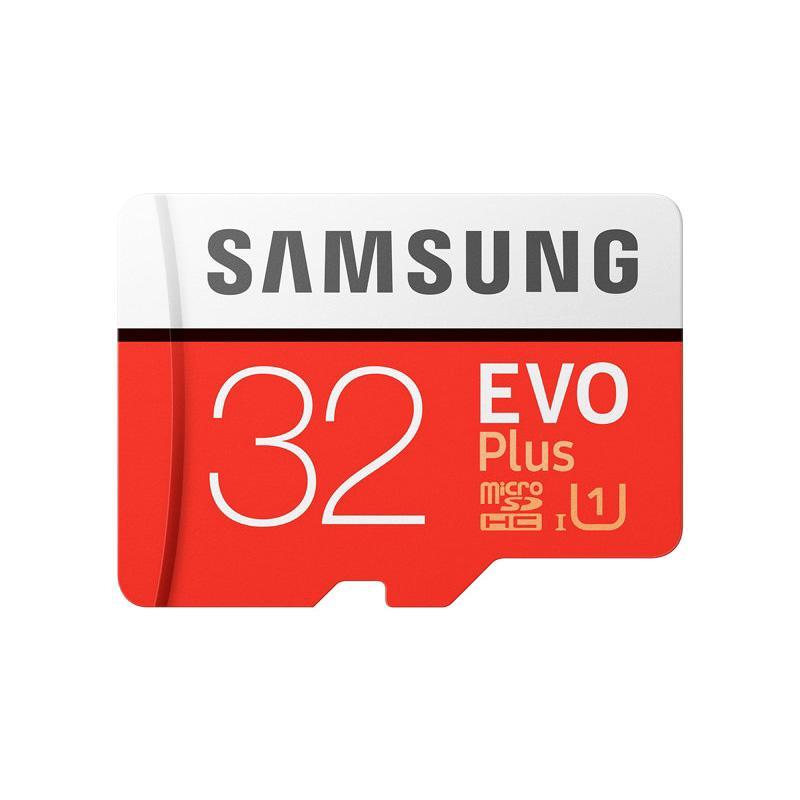 harga Samsung EVO Plus microSDHC UHS-I Memory Card with SD Adapter -  [32GB/95MB/s/Class 10] Merah Blibli.com