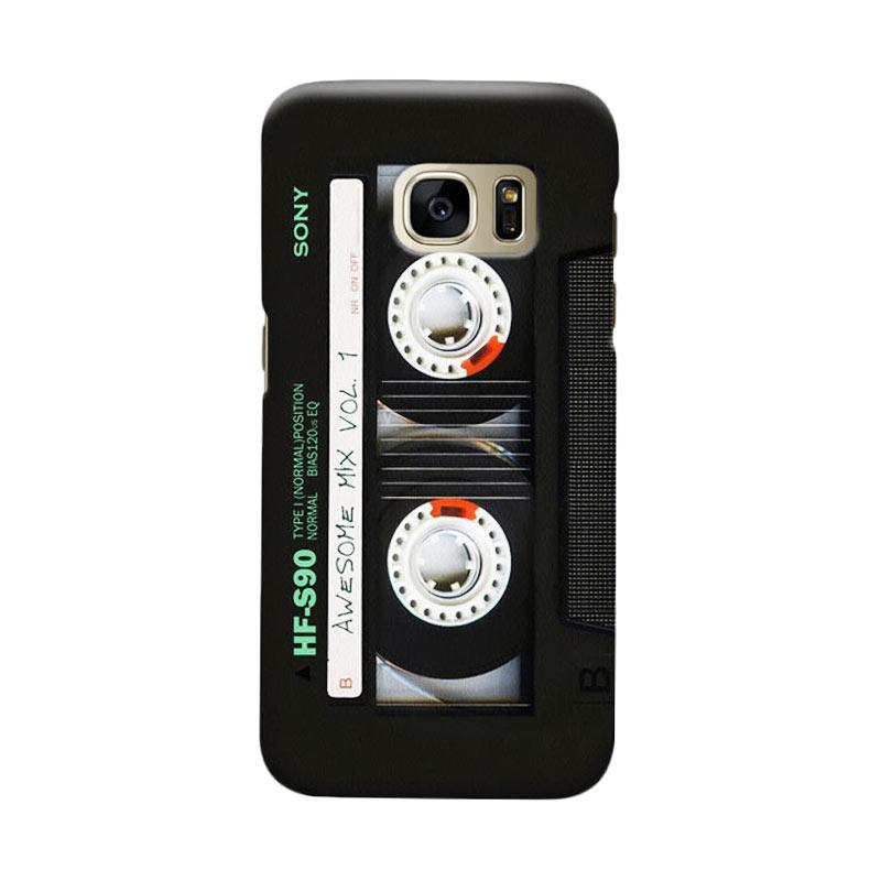 Indocustomcase Cassette Classic Mix Cover Casing for Samsung Galaxy S7