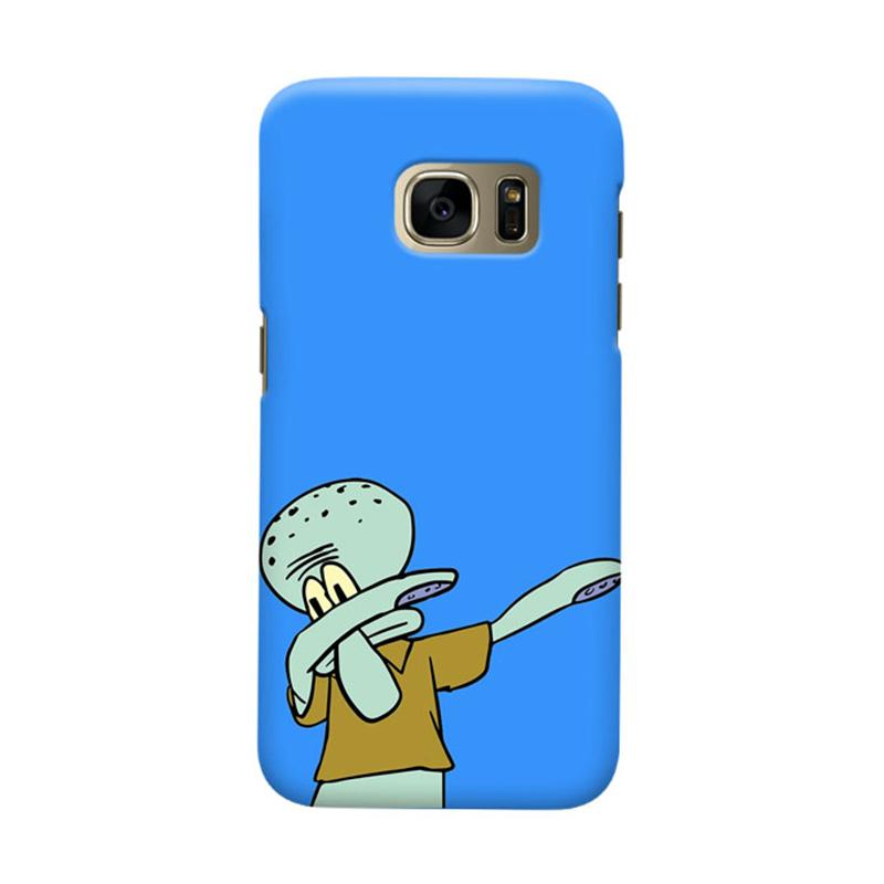 Indocustomcase Squidward Dap Cover Casing for Samsung Galaxy S6 Edge