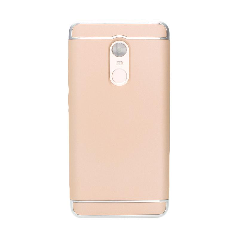 OEM Case 3 in 1 Plated PC Frame Bumper with Frosted Hard Back Casing for Xiaomi Redmi Note 4 - Gold