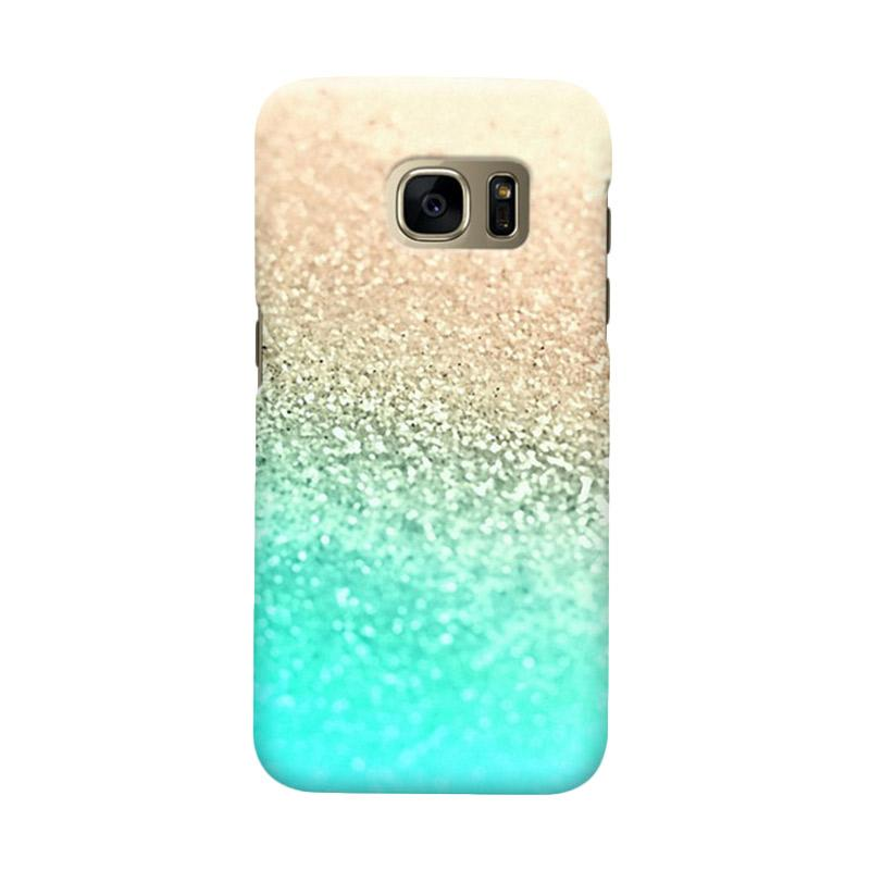Indocustomcase Glitter Mint Cover Casing for Samsung Galaxy S6 Edge