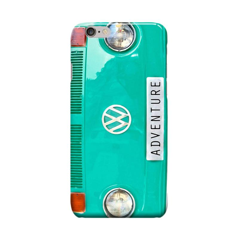 Indocustomcase Green Tosca VW Cover Casing for iPhone 6 Plus or 6S Plus