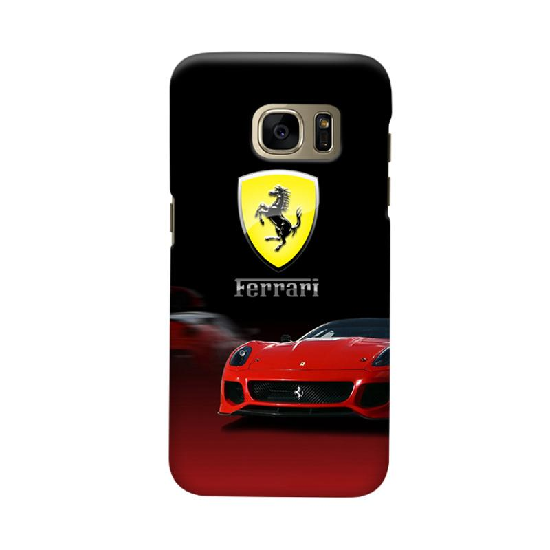 Indocustomcase Ferarri Super Car Cover Casing for Samsung Galaxy S6 Edge