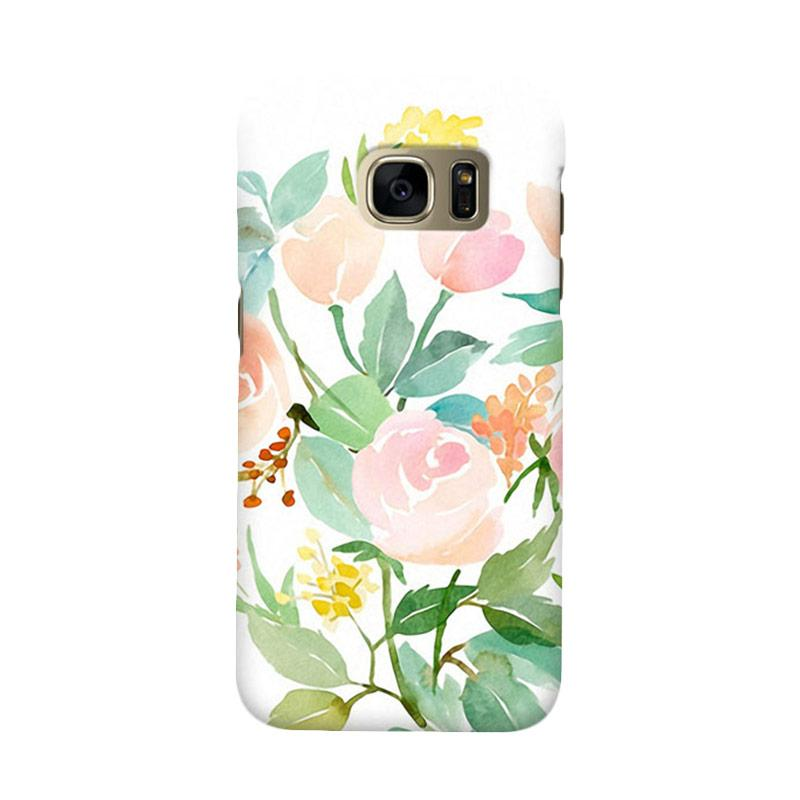 Indocustomcase Floral Rose Mint Cover Casing for Samsung Galaxy S7