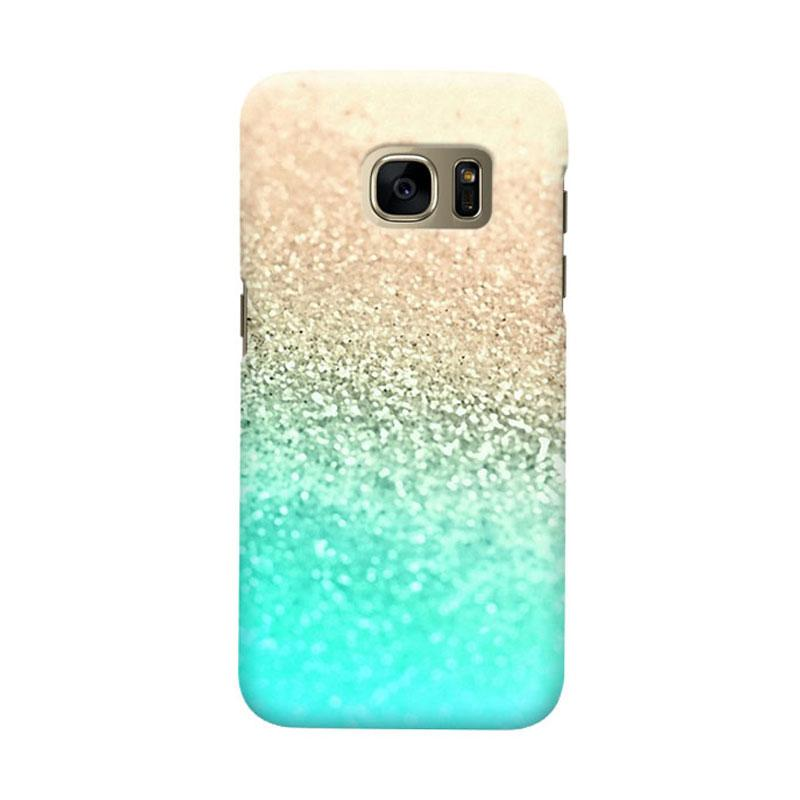 Indocustomcase Glitter Mint Cover Casing for Samsung Galaxy S7 Edge