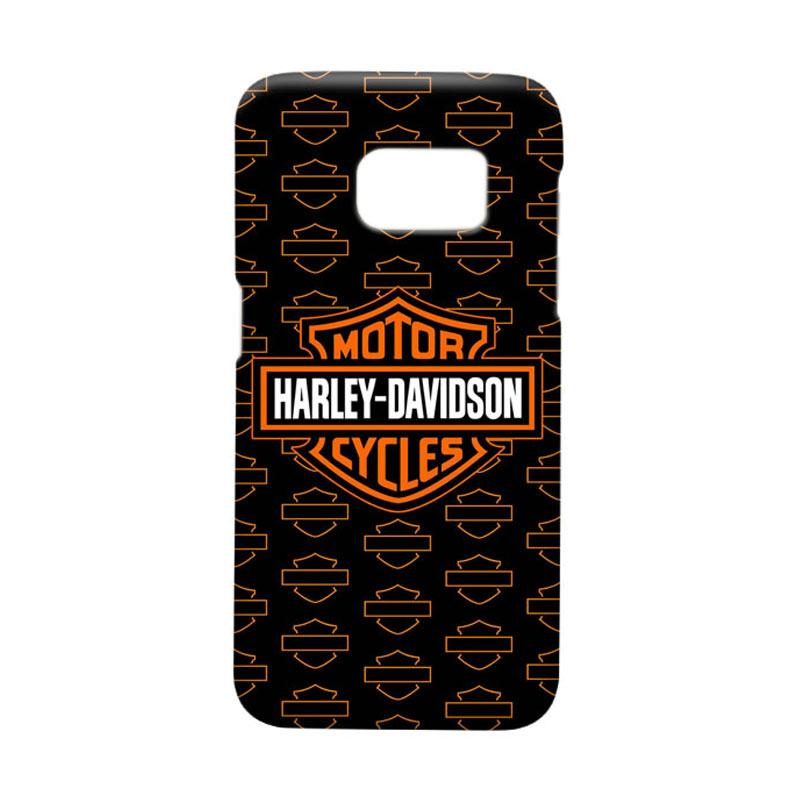 Indocustomcase Harley Davidson Logo Cover Casing for Samsung Galaxy S7