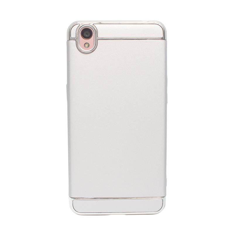 Rekomendasi Seller - OEM Case 3 in 1 Plated PC Frame Bumper with Frosted Hardcase Casing for Oppo Neo 9 or A37 - Silver