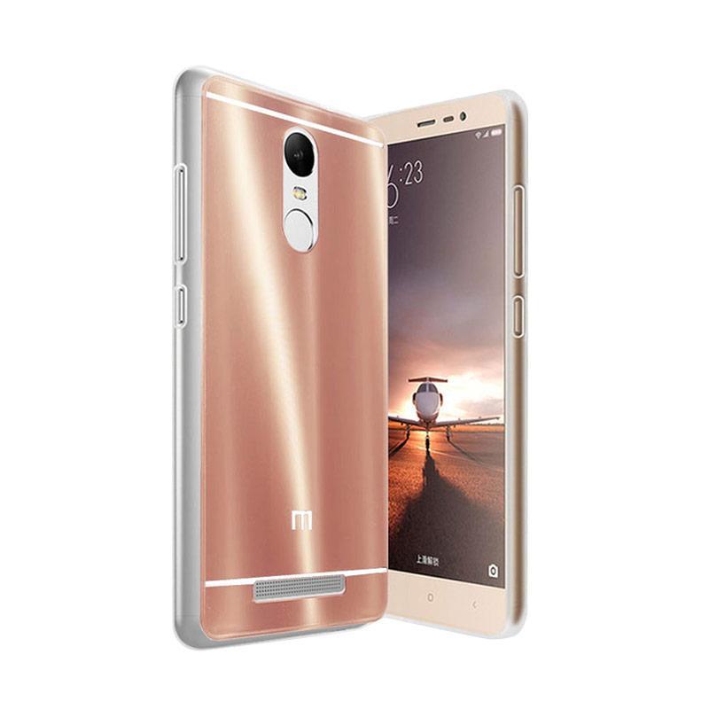Case Aluminium Bumper Slide Mirror Casing for Xiaomi Redmi Pro - Rose Gold [Best Seller]