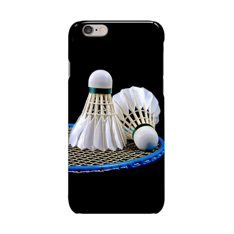 Indocustomcase Love Badminton Cover Casing for iPhone 6 Plus or 6S Plus
