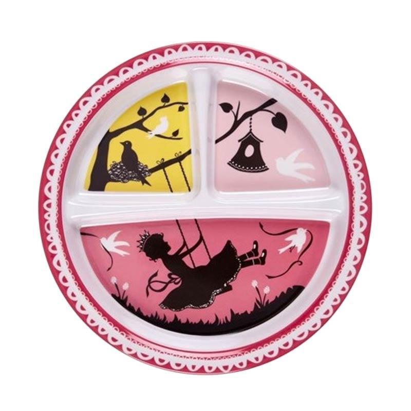 Sugar Boogar Spill Proof Baby Plate Divided Suction Plate Hoot Piring Makan Anak - Pink