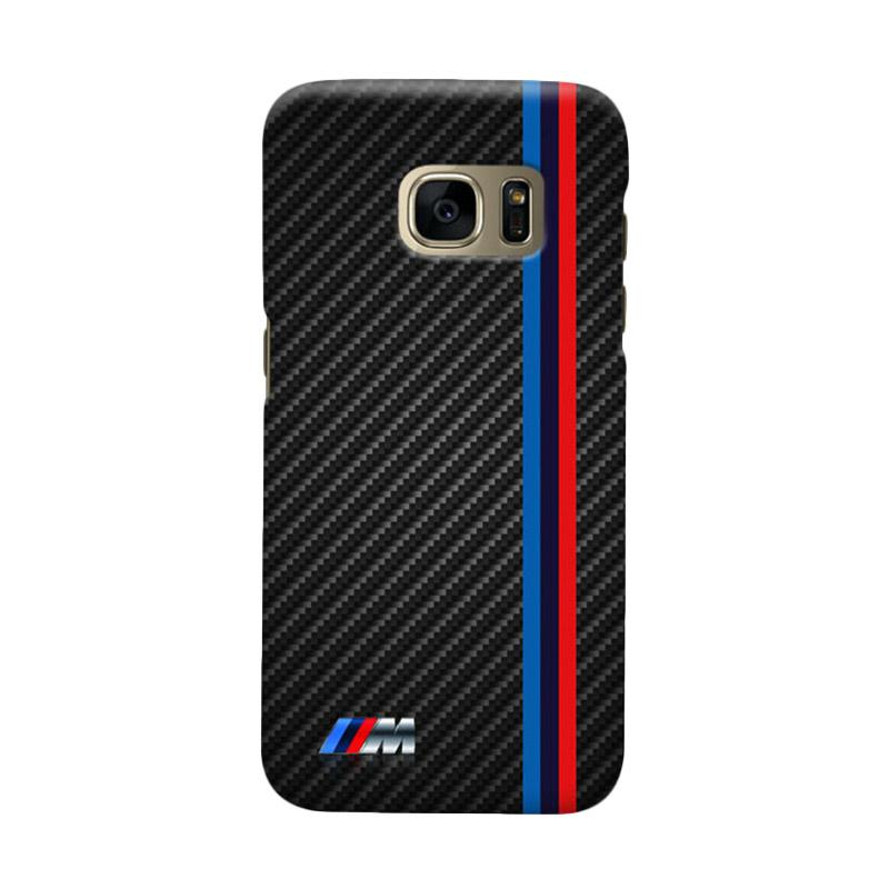 Indocustomcase Carbon Stripe Cover Casing for Samsung Galaxy S7 Edge