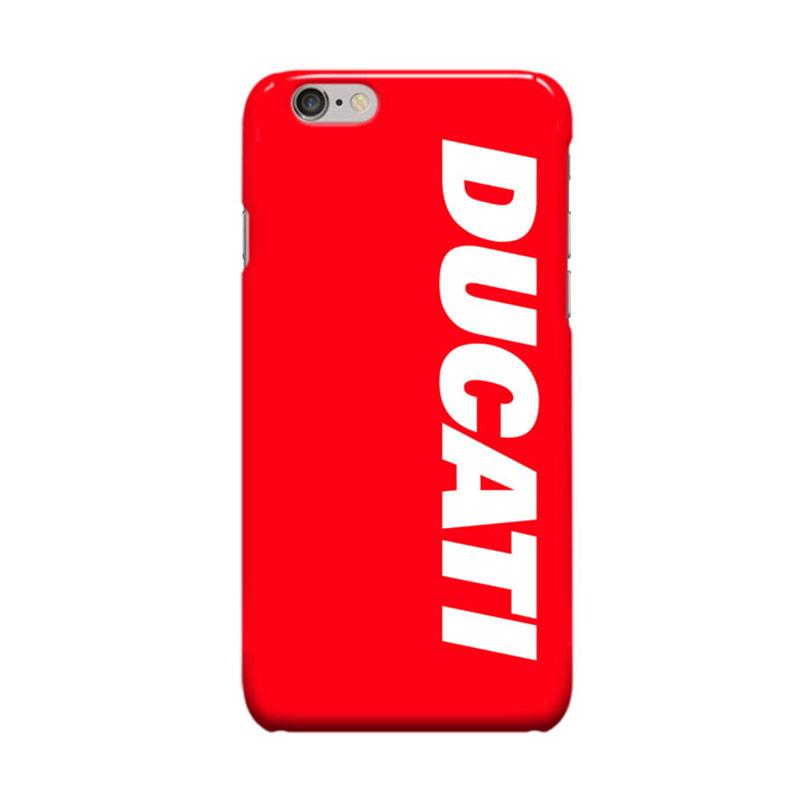Indocustomcase Ducati Cover Casing for Apple iPhone 6 Plus or 6S Plus - Red