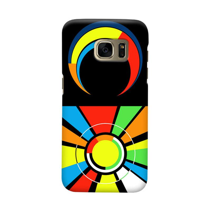 Indocustomcase Sun And Moon Logo Cover Casing for Samsung Galaxy S6