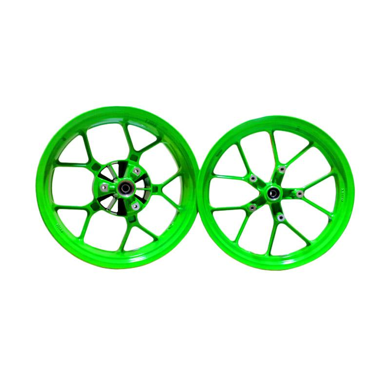 harga V-Rossi New Cobra Front Double Disc Green Gloss Velg for Kawasaki Ninja 250 FI [1 Set] Blibli.com