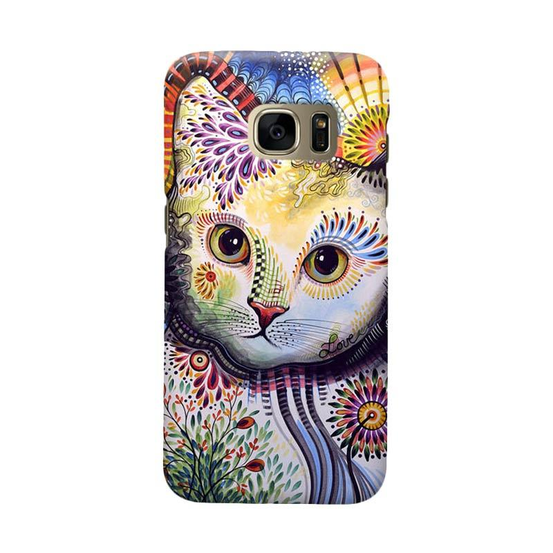 Indocustomcase Beautifull Cat Cover Casing for Samsung Galaxy S6 Edge