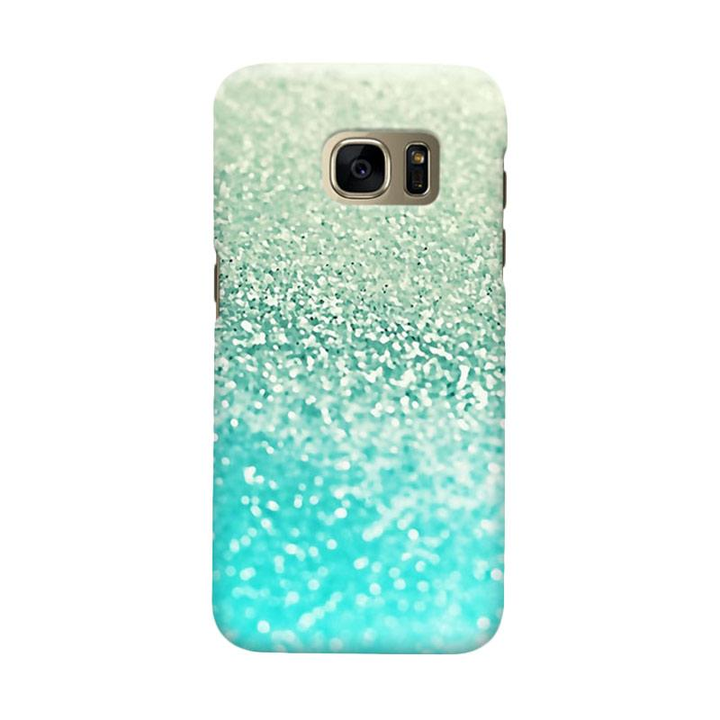 Indocustomcase Glitter Mint 2 Cover Casing for Samsung Galaxy S7 Edge