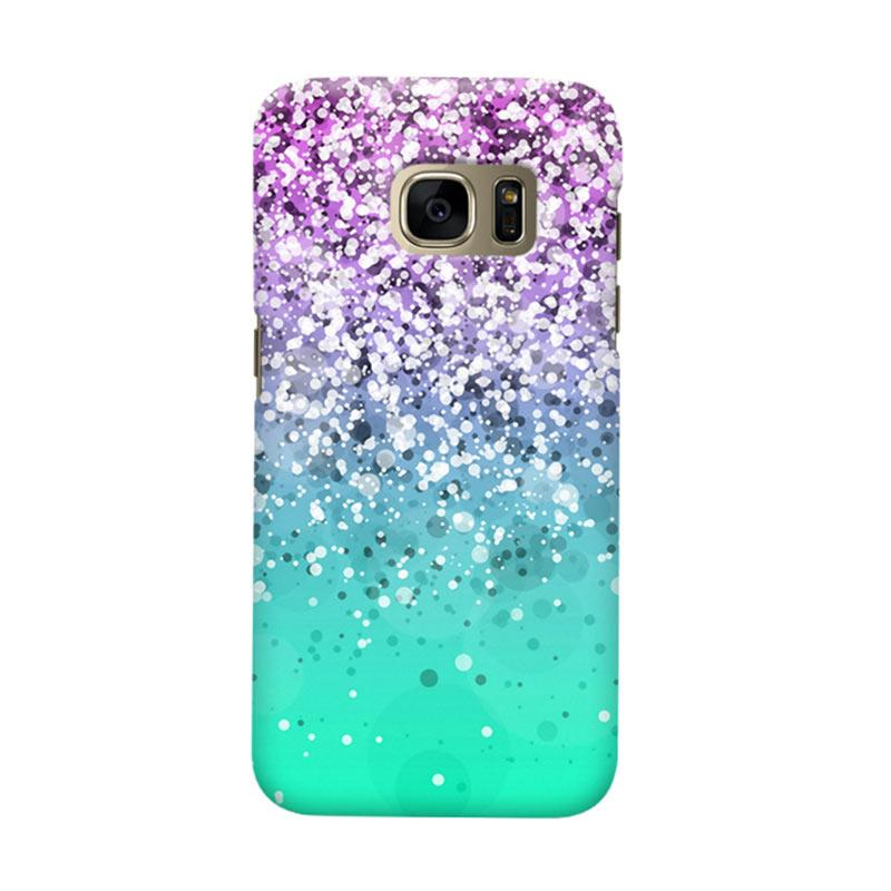 Indocustomcase Glitter Mint 3 Cover Casing for Samsung Galaxy S6 Edge