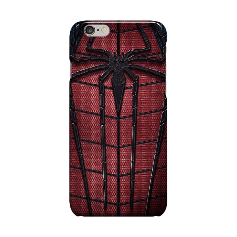 Indocustomcase Spiderman Logo Cover Casing for iPhone 6 Plus or 6S Plus