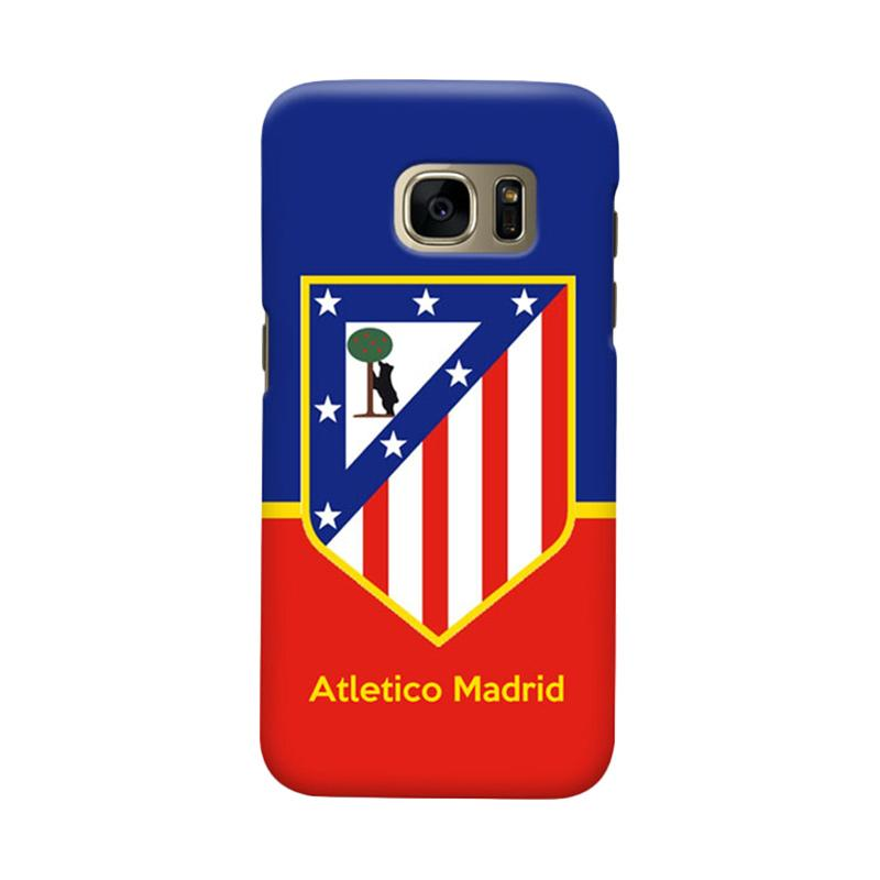 Indocustomcase Atletico Madrid FC Logo Cover Casing for Samsung Galaxy S6