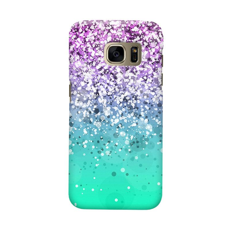 Indocustomcase Glitter Mint 3 Cover Casing for Samsung Galaxy S7 Edge