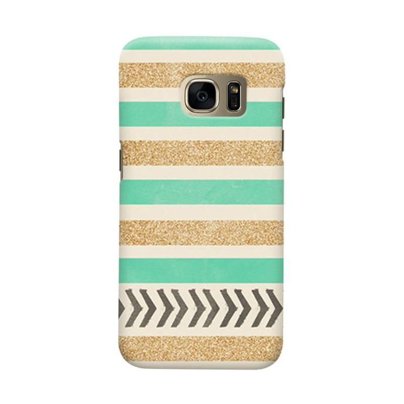Indocustomcase Glitter Strips Cover Casing for Samsung Galaxy S6