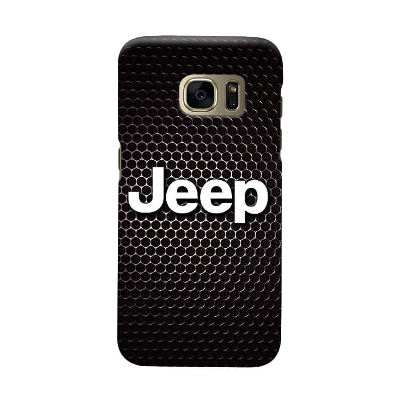 Indocustomcase Jeep On Carboon Cover Casing for Samsung Galaxy S6 Edge