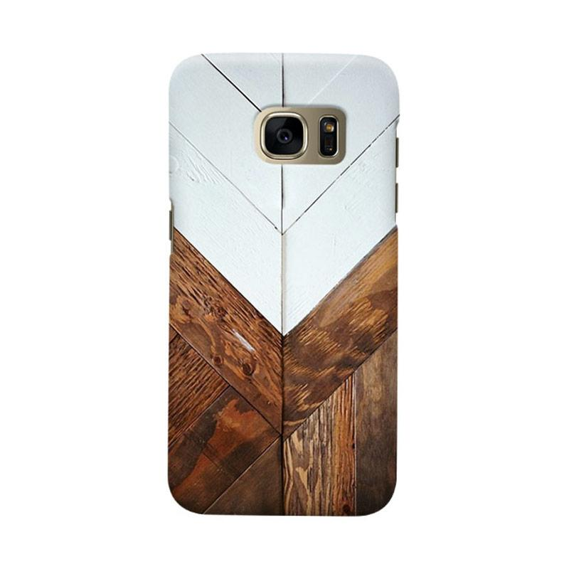 Indocustomcase Wooden Geometric 2 Cover Casing for Samsung Galaxy S6