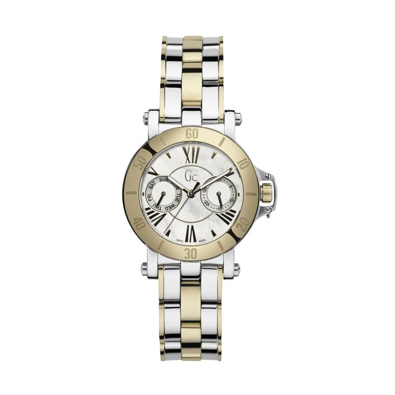 Guess Collection Gc Femme X74013L1S Stainless Jam Tangan Wanita - Silver Gold
