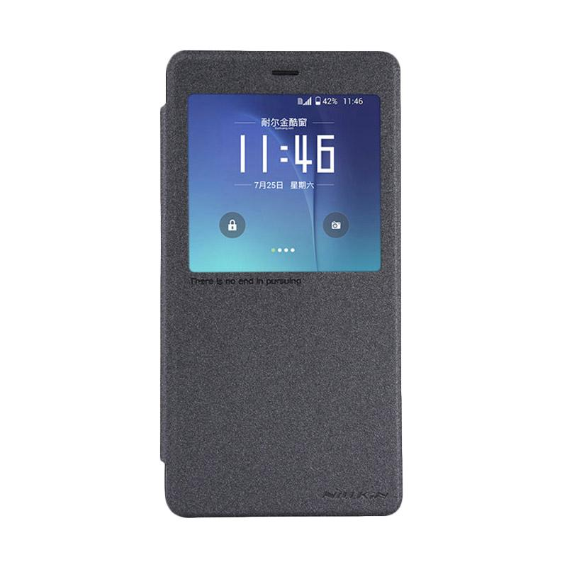 Nillkin Original Sparkle Flip Cover Casing for Xiaomi MI Note or Redmi Pro - Black